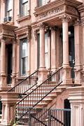 Main ladder of New york Harlem buildings Stock Photos