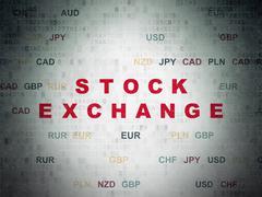 Finance concept: Stock Exchange on Digital Data Paper background Stock Illustration