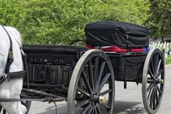 WASHINGTON D.C., USA - MAY, 2 2014 - US Army marine funeral at Arlington ceme - stock photo
