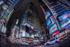 NEW YORK - USA 16 JUNE 2015 new york times square full of people at night Kuvituskuvat