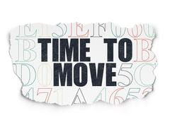 Time concept: Time to Move on Torn Paper background - stock illustration