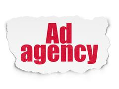 Marketing concept: Ad Agency on Torn Paper background - stock illustration
