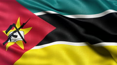 Seamless loop of Mozambique Flag Stock Footage
