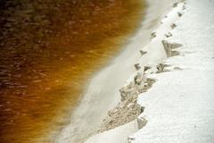 White sand iron yellow river in Australia Kangaroo Island Stock Photos
