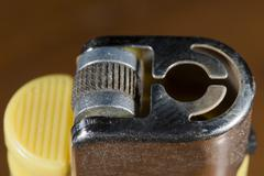 Cigarette lighter macro detail - stock photo