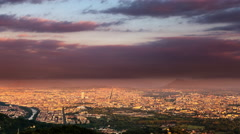 Time lapse of turin skyline from night to day Stock Footage