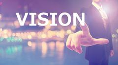 Vision concept with businessman - stock photo