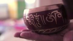 tibetian bowls bells - stock footage