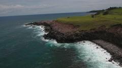 4K Hawaii Aerial: Scenic Coast Line Stock Footage