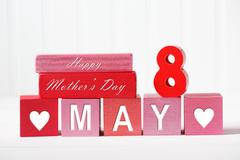 Mothers Day - May 8 - stock photo