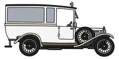 Vintage ambulance car Stock Illustration
