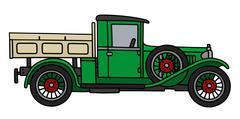 Vintage green lorry Piirros