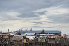 Hovel, shanty, shack in Philippines Stock Photos