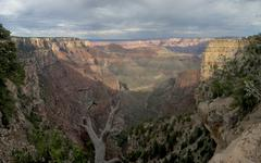 Grand Canyon view panorama from north rim Stock Photos