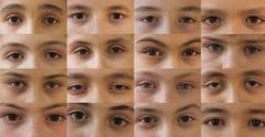 Children's Eyes, 4K (4096x2138) Stock Footage
