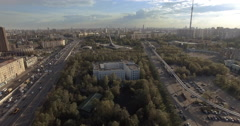 Aerial of ostankino in Moscow - stock footage