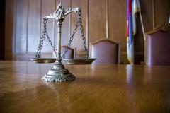 Decorative Scales of Justice - stock photo