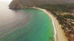 Aerial view of Chuao Bay or Chuao, Aragua State, Venezuela in the Caribbean sea. Stock Footage