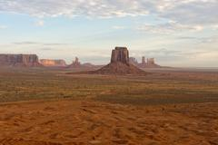 Monument Valley aerial sky view from baloon Stock Photos