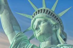 Statue Of Liberty - Manhattan - Liberty Island - New York - stock photo