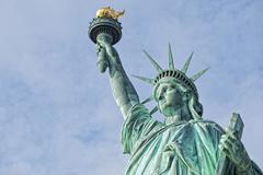 Statue Of Liberty - Manhattan - Liberty Island - New York Stock Photos