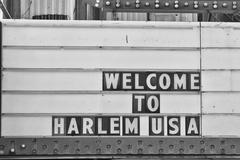 Welcome to harlem Usa Sign Stock Photos