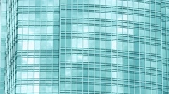 Reflective Glass Window Panels of a Hong Kong Tower Stock Footage