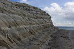 white cliff of Scala dei Turchi - stock photo