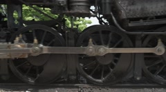 Steam Train Wheels Rolling Stock Footage