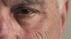 Detail of mature man 's eye Stock Footage