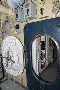 Submarine open door port hole detail Kuvituskuvat