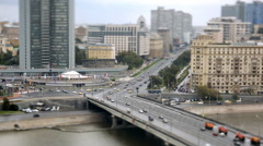 Cars, city traffic Stock Footage