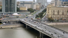 Cars, a stream of cars Stock Footage