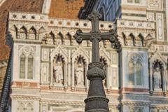 Detail of Cathedral Santa Maria del Fiore, Florence, Italy - stock photo