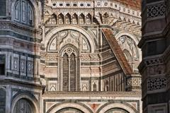 Detail of Cathedral Santa Maria del Fiore, Florence, Italy Stock Photos