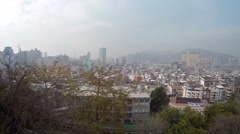 Macau, China from Fortaleza de Monte on a Hazy Day. Video FullHD Stock Footage