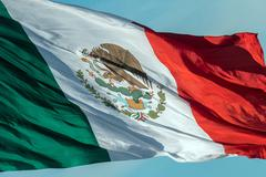 Mexican flag red white and green Stock Photos