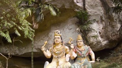 Religious Sculptures near a Hindu Temple in Langkawi, Malaysia Stock Footage