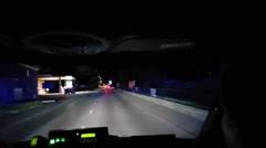 Ambulance speeding at night - stock footage