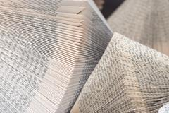 folded antique books page background texture - stock photo