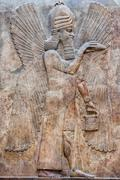 Ancient Babylonia and Assyria sculpture painting from Mesopotamia Stock Photos