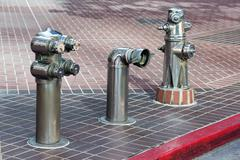 Iron street hydrant in San Diego, Usa Stock Photos