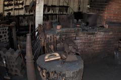 iron blacksmith anvil close up detail - stock photo