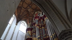Grote Kerk (Great Church) Organ -  Haarlem, Netherlands in 4K Stock Footage