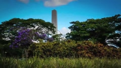 Obelisk .san Paulo. Brazil. - stock footage