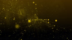 Abstract Yellow Glitter Particles Motion Background Stock Footage