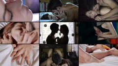 Composition of tenderness between lovers Stock Footage