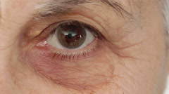 Wrinkled old woman's eye Stock Footage