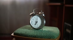 The alarm rings early in the morning Stock Footage