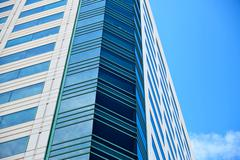 Office building on sky background. Stock Photos